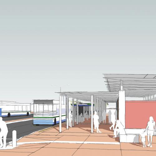 Nelson Mandela Boulevard, Thembaletu: 26th Street transfer point - high level concept proposal for upgraded School gateway precinct around new transfer station