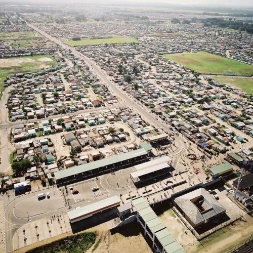 Aerial View of Ingulube Drive and Philippi Transport Interchange 2003